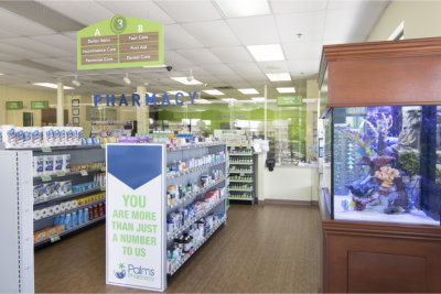 Products inside the pharmacy